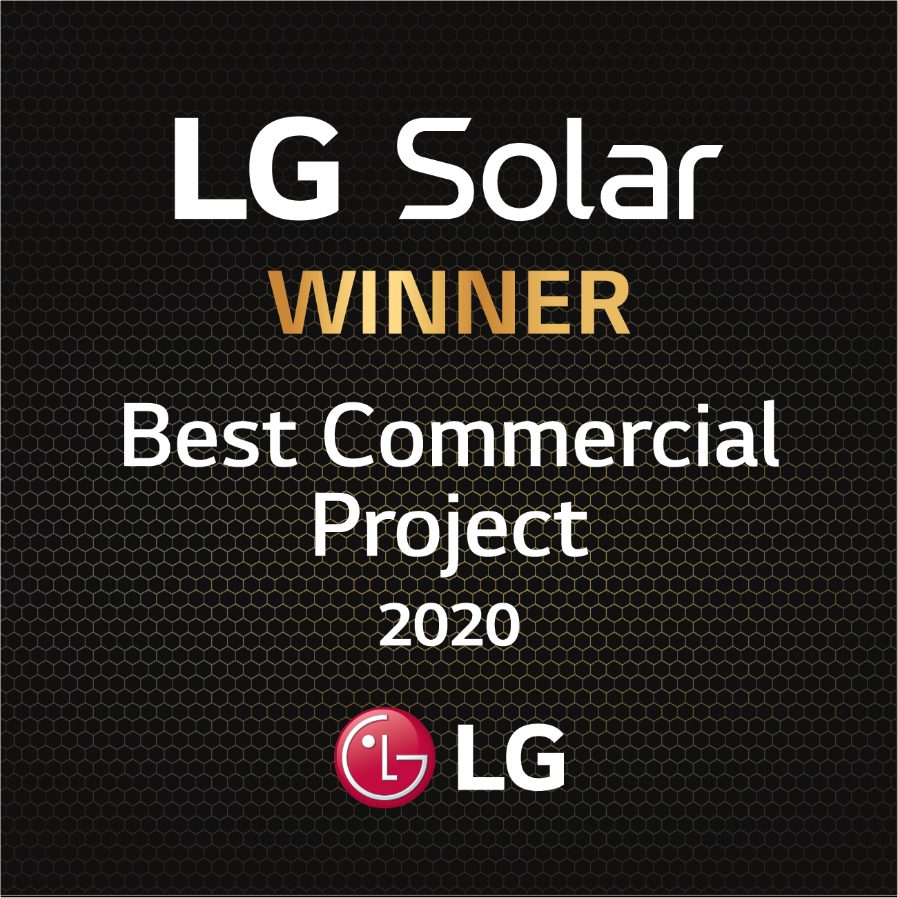 LG National Award for BEST COMMERCIAL PROJECT of 2020 - featured image
